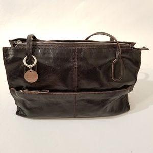 Hobo Friar Leather Shoulder Bag C9